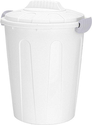 Spetebo Maxitonne 40L mit Deckel - weiß - Universaltonne Mülltonne Abfalleimer Mülleimer
