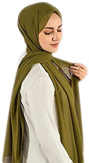 Veil - Chiffon Crepe - Green Khaki Soft - High Quality