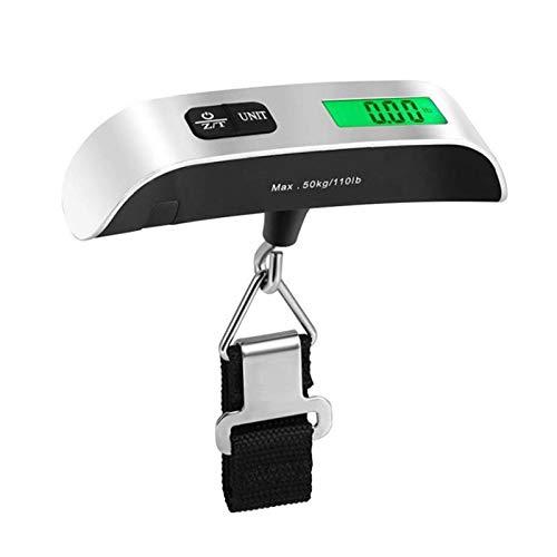 AGUOGUO Pantalla LCD Digital de Escala portátil 110lb / 50kg Equipaje electrónico Colgante Maleta de colgaje Pesa Bolsa de Equipaje Herramienta de Equilibrio de Peso