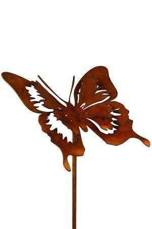 Rostikal Schmetterling Gartenstecker 52 cm Frühlingsdeko Gartendeko Vintage Rost Deko Wohnzimmer