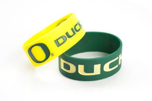 NCAA Oregon Ducks Silicone Rubber Bracelet, 2-Pack
