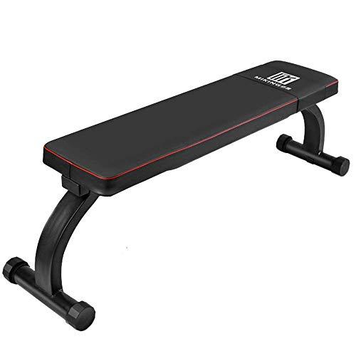 SXXYTCWL Gewicht Bench Flach-Übungs-Eignung Sitz Sit Up Bench Bauchkrafttraining Bank mit Stahlrahmen Universal-Standard-Versatile Black jianyou