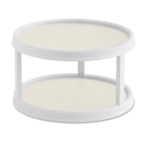 Copco 5254628 Non-Skid 2 Tier Turntable, 12 inch, Cream