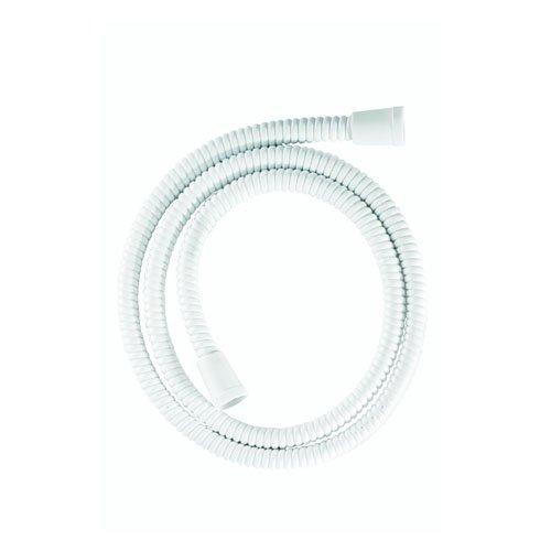 Croydex - Tubo flessibile per doccia Essentials, 1,25 m, in PVC rinforzato, colore: Bianco