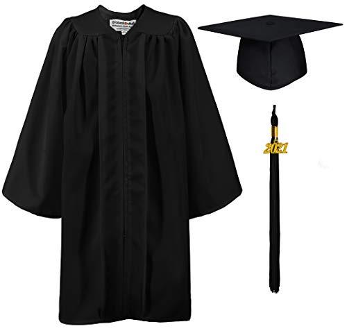 GraduationMall Guardería Graduación Toga y Birrete Mate para Niños 2021 Preescolar Niño Niña Regalo 9 Colores