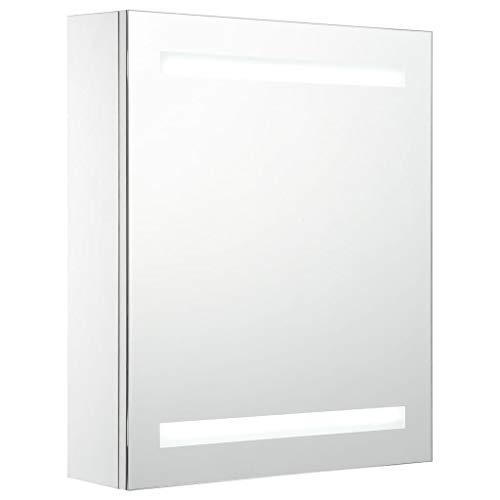 vidaXL LED Bad Spiegelschrank Spiegel Badspiegel Hängeschrank Badschrank Badezimmerschrank Badezimmerspiegel Hängespiegel 50x14x60cm
