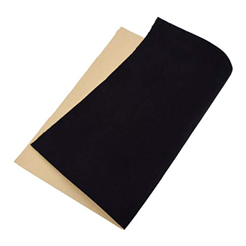 Esquirla Self Adhesive Felt Shelf Liner for for Chrismas Halloween Jewelry Drawer, Display, Drawer Craft Fabric Peel Stick - Black