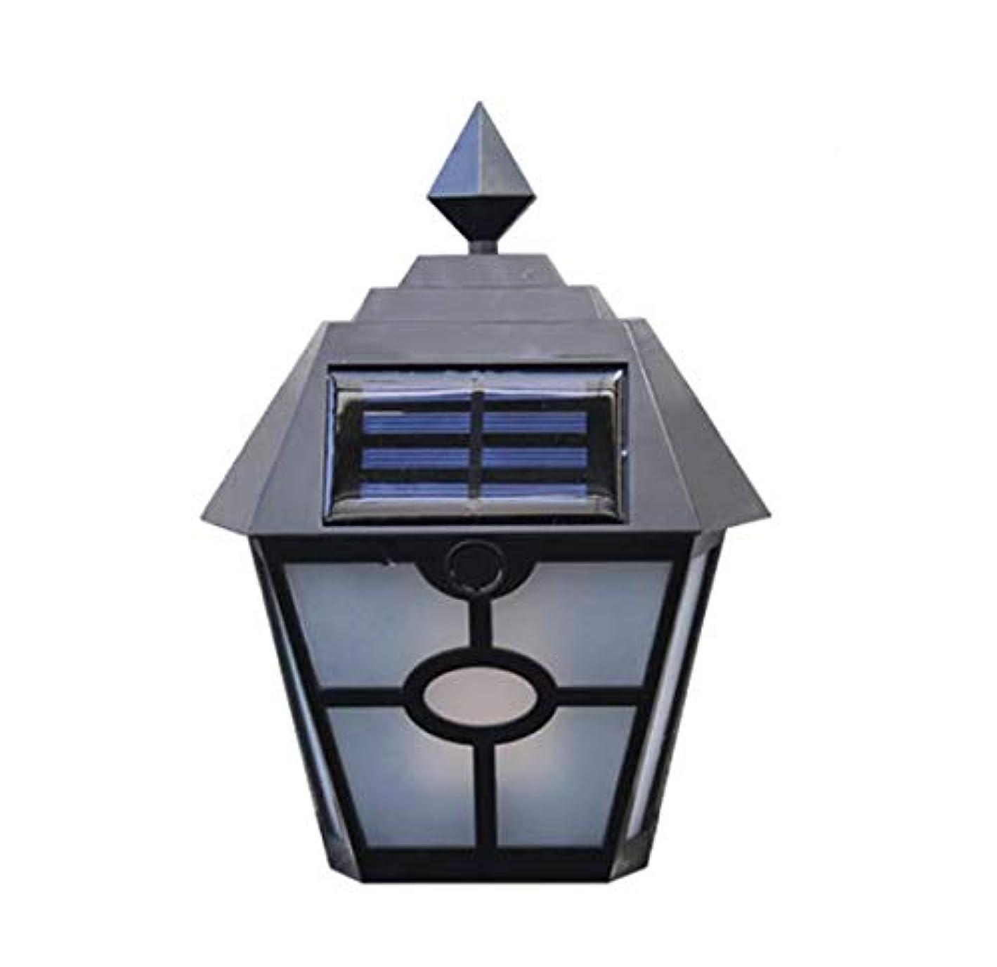 協力するマーベル四レトロな六角形のLEDソーラーウォールライトLED調光プラスチック防水IP65ペインの庭のフェンス庭の風景屋外