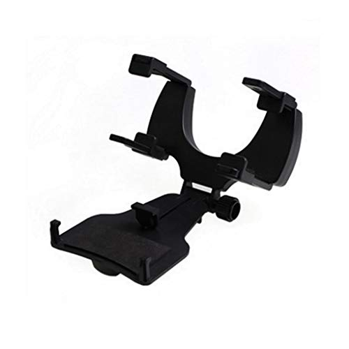 Inzopo - Soporte de coche ajustable para espejo retrovisor de coche, color negro