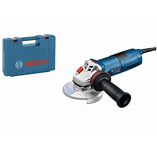 BOSCH 060179F003 - Miniamoladora GWS 13-125 CIE Professional. 1.300 W. 125 mm. 11.500 rpm. Regulación electrónica. Protección contra rearranque. kickBack Stop. 2,3 Kg con Empuñadura anti-vibración