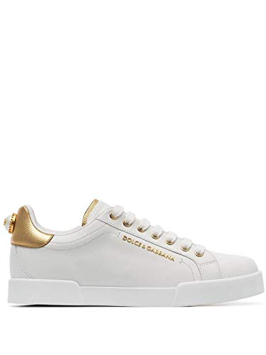 DOLCE E GABBANA Luxury Fashion Damen CK1602AN2988B996 Weiss Sneakers |