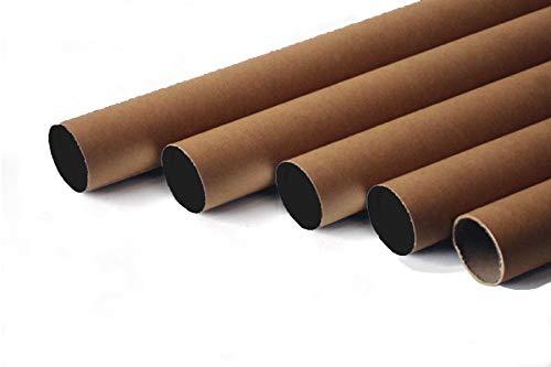 Paquete de 20 tubos de cartón con tapón de plástico para envíos postales, altura 330 mm x 40 mm, tamaño A3 y A4 póster