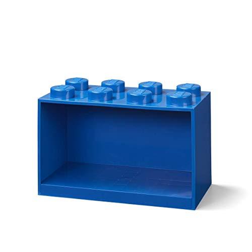 Room Copenhagen Mensola mattoncini Lego 8 manopole, Blu, 8 Bottoni