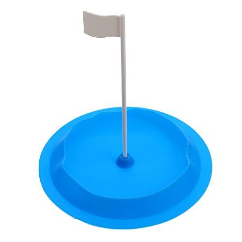 VOSAREA Golf Putting Cup Indoor Uso All Direction Golf Training Putting Agujero con bandera para interior y exterior, color...