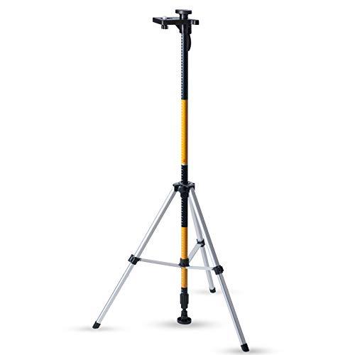Laser-Wasserwaage MOUNTING Stange 3,6m mit Stativ Basis Boden zu Decke Stütze & Halterung + Adapter 1/4und 5/8+ Tasche