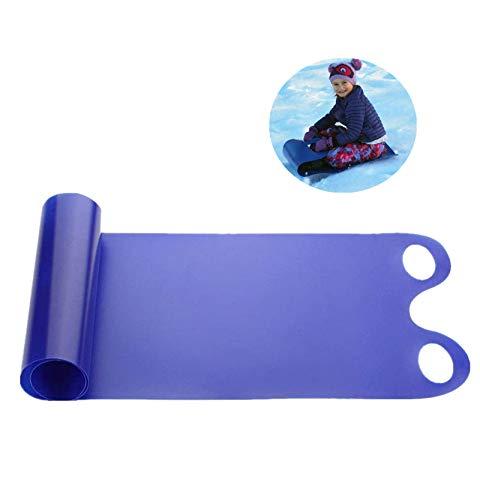 Pudu Snow Toboggan - Alfombra de trineo portátil para nieve, resistente al frío, duradero, para adultos, niños, snowboard, color azul