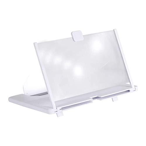 TiKiNi Lupa de pantalla, 12 pulgadas, plegable, amplificador de teléfono HD, proyector de pantalla 3D para películas, vídeos y juegos