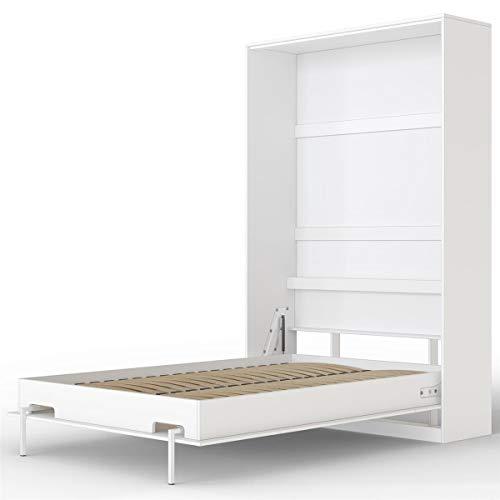 SMARTBett Basic Schrankbett (Weiss, 120x200 cm Vertikal)