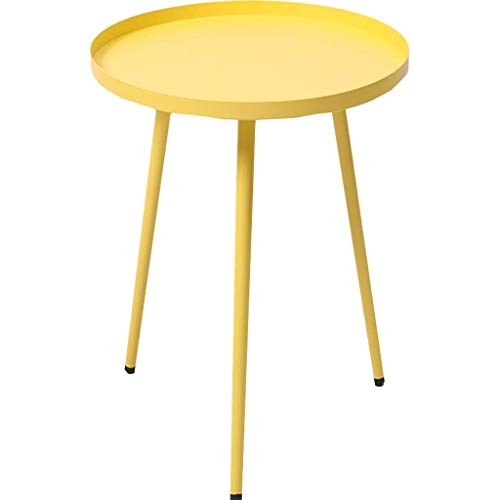 Home Décor Products Snack Coffee Table End Tables Side Table Patio Coffee TablesEasy Assembly Compact Multipurpose Espresso Metal for Small Space Yellow