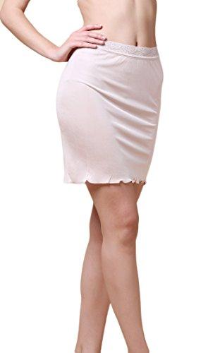 Knitted Silk Adjustable Waist Half Slip Body Foundation Beige L