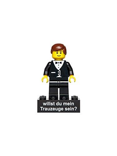 Hauke Trade Minifigur Trauzeuge für eine Trauung gedruckt auf Legoteilen