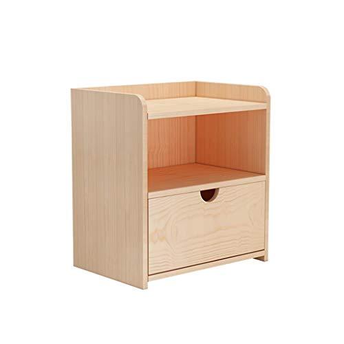 TXXM® Herstellung Nachttisch Schlafzimmer Spind, Schlafzimmer Nachttisch, Wohnzimmer Locker, Wohnzimmer Sofa Seitenschrank Praktische Möbel (Color : Wood Color)