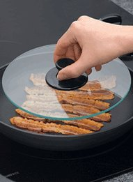 Carol Wright Gifts Tempered Glass Bacon Press,Clear