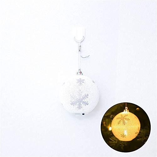 Phrat - Bola de Navidad con luz LED, diseño de Copo de Nieve