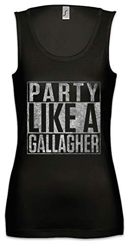 Urban Backwoods Party Like A Gallagher Damen Frauen Tank Top Shirt Schwarz Größe L