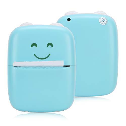 Mini impresora de bolsillo con Bluetooth, teléfono inteligente inalámbrico Impresora de fotos de recibos de notas fotográficas móviles para teléfonos inteligentes Compatible con iOS y Android