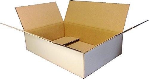 愛パックダンボール ダンボール箱 120サイズ 白 20枚 段ボール 日本製 無地 中芯強化材質
