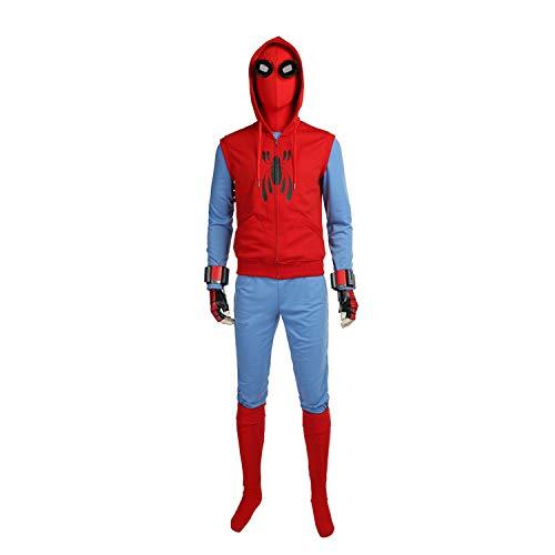 QWEASZER Spider-Man Homecoming Disfraz (Traje casero) Marvel Avengers Men Conjunto Completo Disfraz de Batalla Película de Halloween Cosplay Onesies Disfraces Accesorios de Fiesta,Spiderman-M