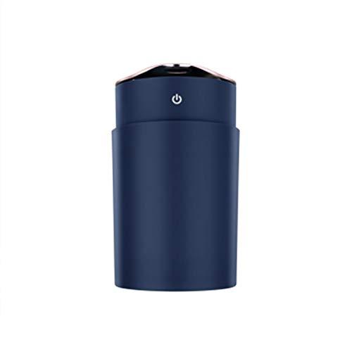 LPLHJD Luftbefeuchter mit kühlem Nebel Luftbefeuchter Home Office Desktop-Silent-Spray Nebel Aromatherapie-Maschine mit einem kleinen Ventilator Hydrator (Color : Blue)