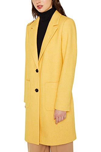 ESPRIT Damen 129Ee1G004 Mantel, 765/DUSTY Yellow, XL