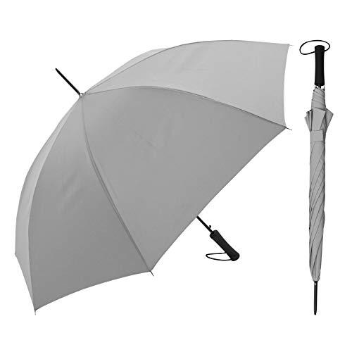 Regenschirm - Vollflächig/komplett reflektierend - Stabiler Automatik-Stockschirm in Silber-Optik für maximale Sicherheit auf der Straße - Reflective Long von schirmmacher