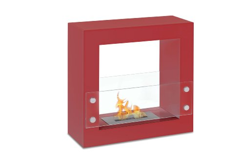 %15 OFF! Freestanding Ventless Bio Ethanol Fireplace - Tectum Mini Red | Ignis
