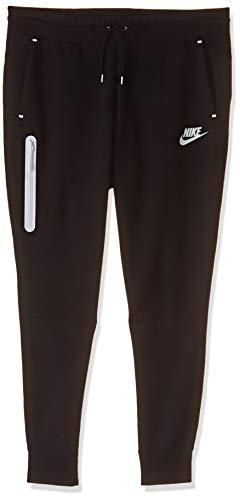 Nike Damen Tech Fleece Pant Fleecehose, Black/Black/White, XL