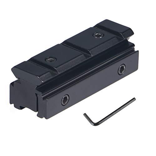 FOCUHUNTER Tactical Airsoft Zielfernrohr 11mm to 20 mm Zielfernrohr Montage Für 20mm Picatinny / Weaver-Schienenbefestigung Aluminiumlegierung