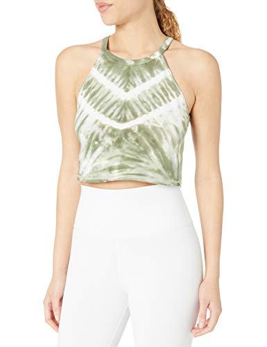 Calvin Klein Women's Shoreditch Chevron Tie Dye Crop Top, Forest Combo, Medium