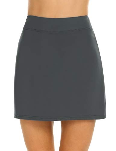 MAXMODA Damen Tennis/Hockey/Golf Sport-Hosen Rock/Skort, Winddicht grau S