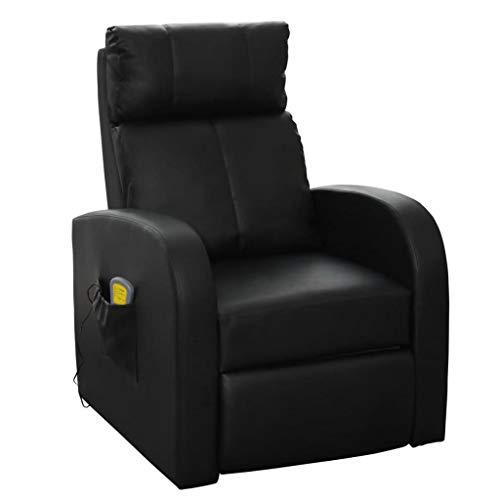 Binzhoueushopping Sillón de masaje eléctrico con mando a distancia negro, diseño cómodo,...