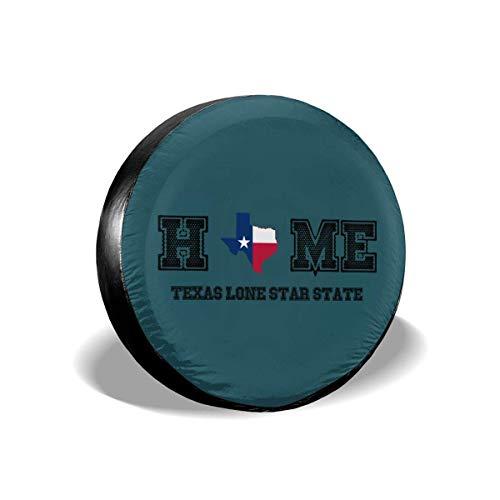 Fundas para llantas para fanáticos de los deportes Texas My Home Lone Star State Cubierta universal para llantas de repuesto para remolques, casas rodantes, SUV y muchos vehículos de 16 pulgadas