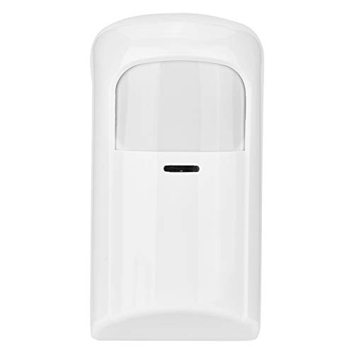 Detector de Movimiento inalámbrico por Infrarrojos, Sensor portátil de Gran Angular PIR para el Sistema de Alarma Home Security (se Utiliza con una Alarma), 1.00V