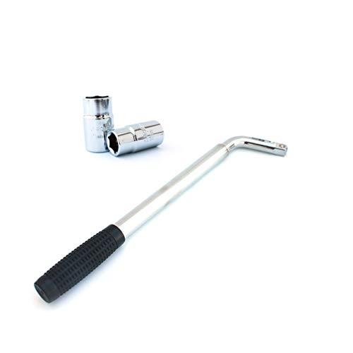 UKCOCO Llave de tuerca de rueda, extensible, telescópica, resistente, para la reparación de neumáticos del automóvil