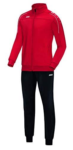 JAKO Herren Classico Trainingsanzug Polyester, rot, M