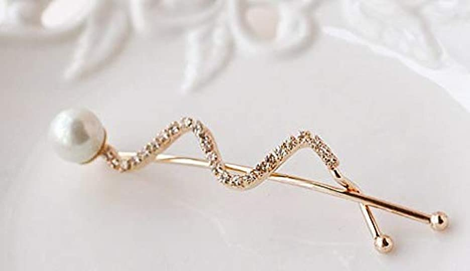 オプション宝石株式会社HuaQingPiJu-JP ファッションヘアピン便利なビンテージヘアクリップヘッドウェアエレガントなヘアクリップ(ホワイト)