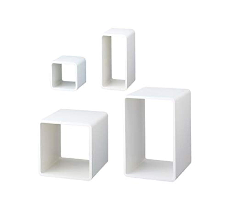 迷彩会計プランターアズワン ディスプレーキューブ ホワイト W35×D35×H52.5cm 入数4台/61-7226-86