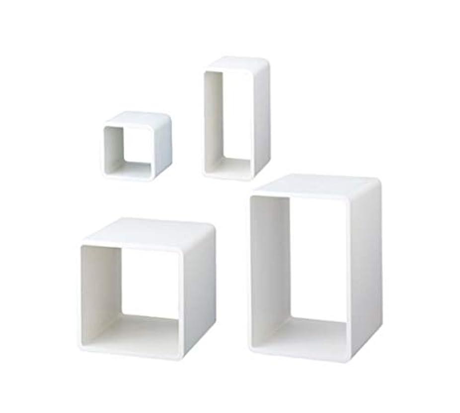 の量シットコム達成可能アズワン ディスプレーキューブ ホワイト W35×D35×H35cm 入数1台/61-7226-81