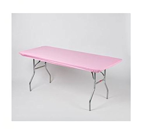 Kwik Covers 30' x 96' Pink Fitted Table Cover - Single