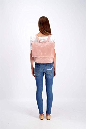Leather Backpack with Zipper, Women's Laptop Handbag Gift for Student, Mother or Wife